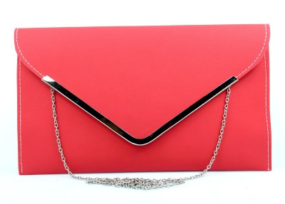 Hydes Girls, Women Red Leatherette Sling Bag