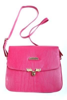 YBC Women Pink PU Sling Bag