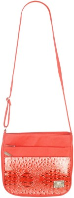 Fristo Women Casual Red PU Sling Bag