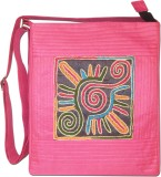 Indha Craft Women Pink Polyester Sling B...