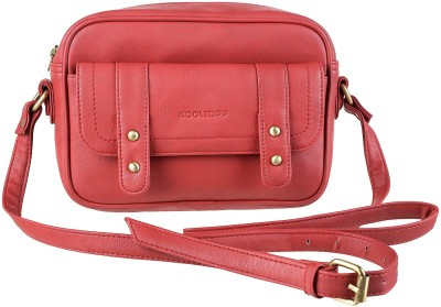 Kooltopp Girls, Women Red Leatherette Sling Bag