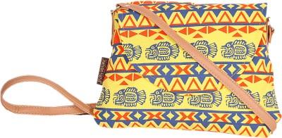 Kanvas Katha Women Casual Multicolor Canvas Sling Bag