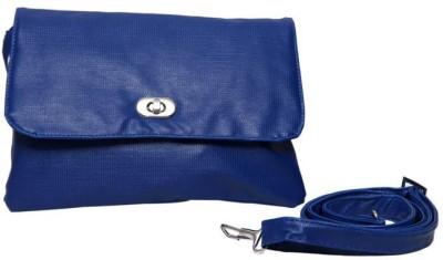 Borse Women Casual Blue PU Sling Bag