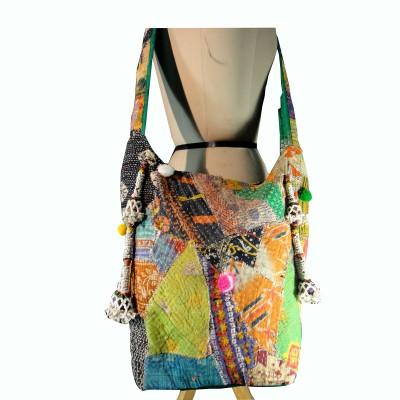 Praniti Girls Multicolor Cotton Shoulder Bag