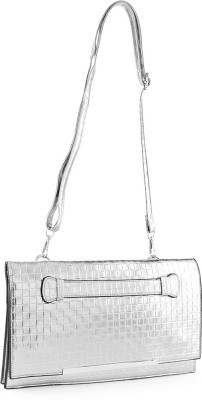 Aashka Women Silver PU Sling Bag