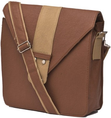 Igypsy Girls, Women, Men Brown Leatherette Sling Bag