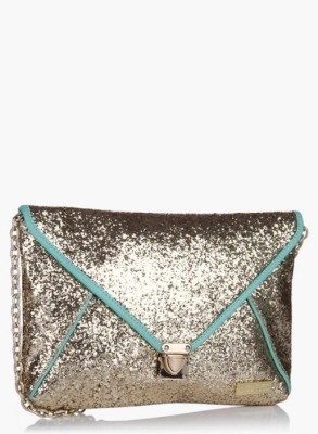 3 Mad Chicks Women Gold, Blue PU Sling Bag