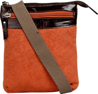 Hunt Women Casual Orange Genuine Leather Sling Bag