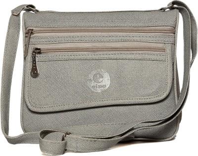 Flamboyance Women Grey Leatherette Sling Bag