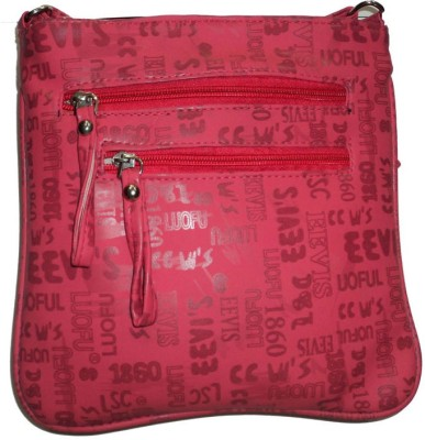 only colours Women Red, Blue Rexine Shoulder Bag