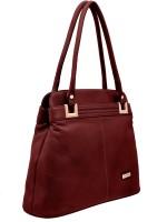 JFL - Jewellery for Less Women Maroon Genuine Leather Shoulder Bag
