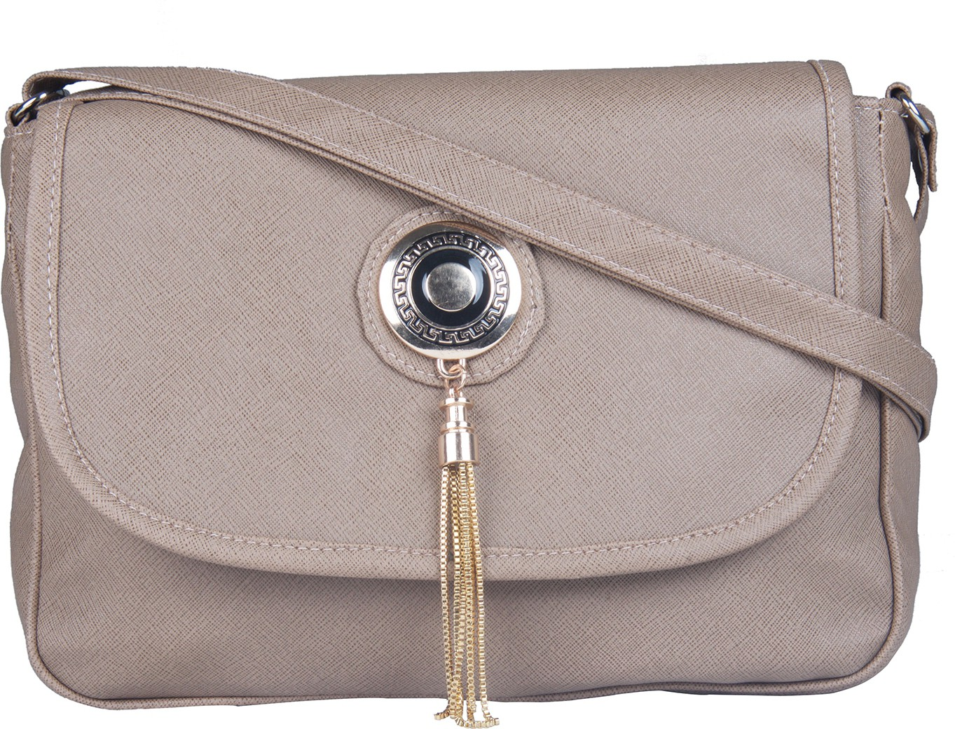 Sling bag below 500 - Craze On Bags Women Beige Pu Sling Bag