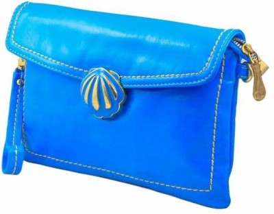 Penguin Women Casual Blue Genuine Leather Sling Bag