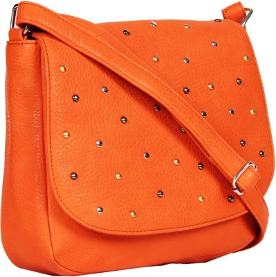 Tomas Women Orange PU Sling Bag