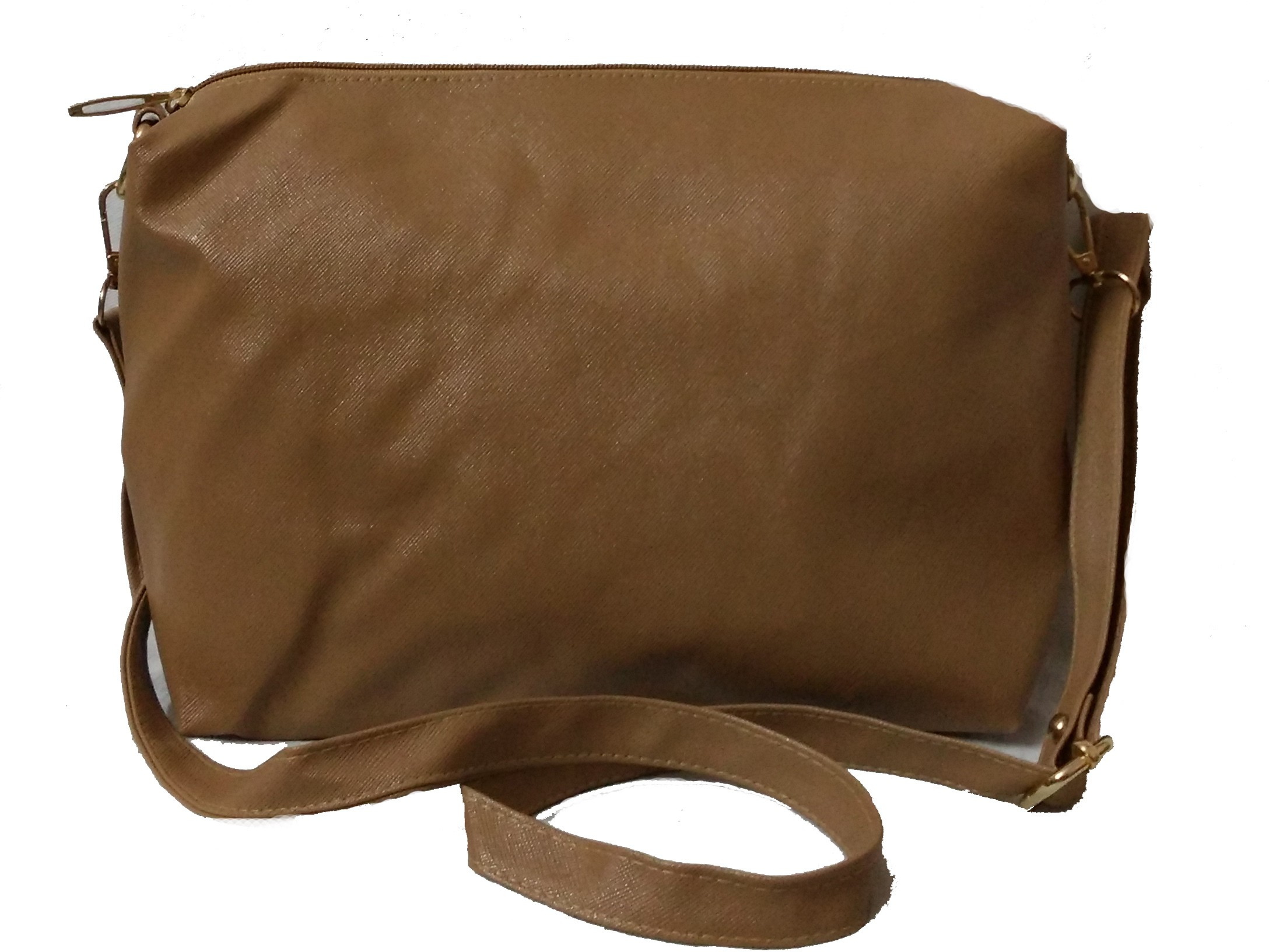 Sling bag below 500 - Craveforit Girls Khaki Pu Sling Bag