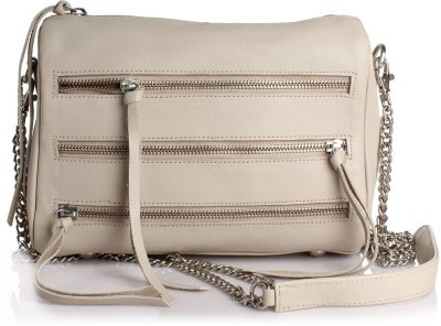 Craft Concepts Women Casual Beige Genuine Leather Sling Bag