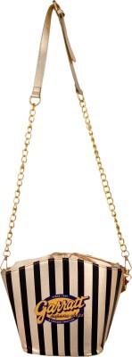 Cheery Women Gold PU Sling Bag