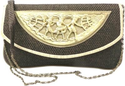 Bhamini Women Casual Brown Cotton Sling Bag