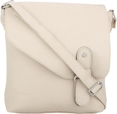 Red Rose Women White PU Sling Bag