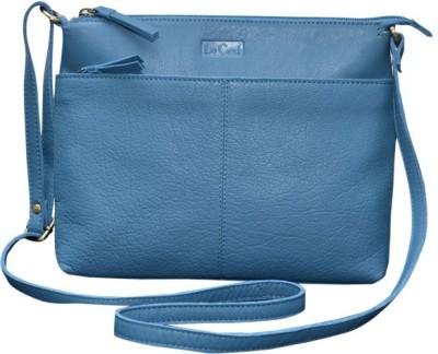 Le Craf Girls Casual Blue Genuine Leather Sling Bag