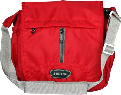 Aoking Men, Boys, Women, Girls Casual Red Nylon Sling Bag
