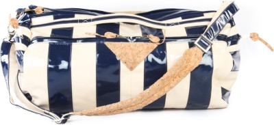 Harp Men, Women Casual Blue Leatherette Sling Bag