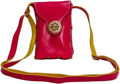 Bagzmania Women, Girls Evening/Party, Festive, Formal, Casual Pink, Yellow Leatherette Sling Bag