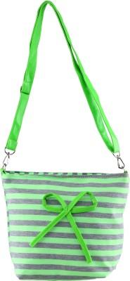 FabSeasons Girls, Women Green Cotton Sling Bag