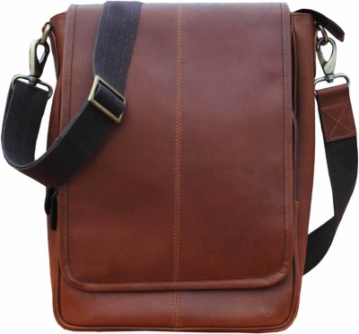 Delphi Boys Casual Brown Genuine Leather Sling Bag