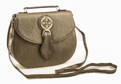 Voaka Women, Girls Beige Leatherette Sling Bag