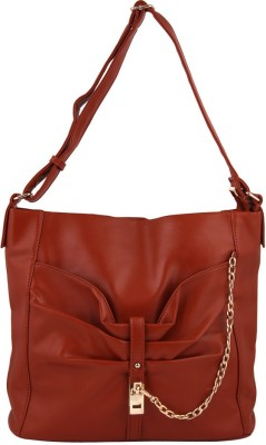 Gihaan Girls Brown PU Sling Bag