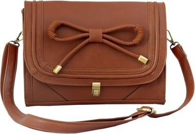 Lychee Bags Girls Casual Brown PU Sling Bag