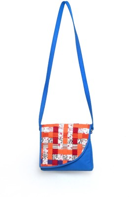 Allmine Girls Casual Blue PU Sling Bag