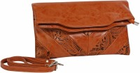 Just Women Women Casual Brown PU Sling Bag