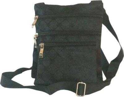 Amafhh Girls Casual Black Canvas Sling Bag