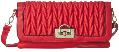 Cappuccino Women Casual Red Leatherette Sling Bag