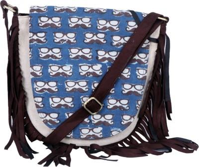 Stylocus Women Blue Cotton Sling Bag