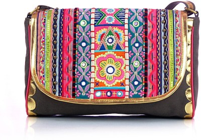 Shaun Design Women, Girls Multicolor Canvas Sling Bag