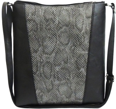 Kion Style Girls, Women Black Leatherette Sling Bag