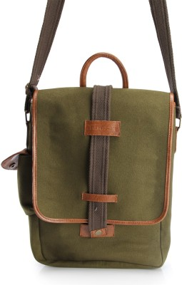 HardWire Boys, Girls, Men, Women Green Canvas Sling Bag