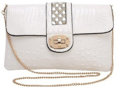 Ambience Women, Girls White PU Sling Bag
