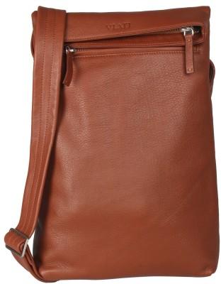 Viari Men Casual Tan Genuine Leather Sling Bag