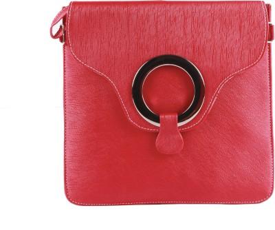ALEXA INDIA Girls Red Rexine Sling Bag