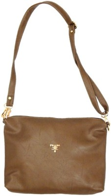 mezzo99 Girls, Women Brown PU Sling Bag