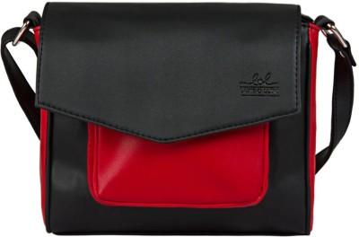 Lapis O Lupo Women Black PU Sling Bag