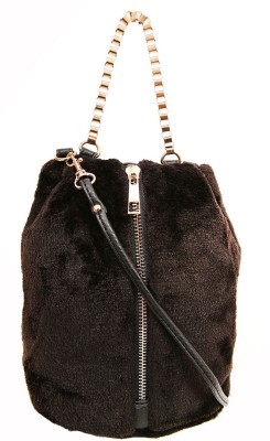 AQ Women Casual Black PU Sling Bag