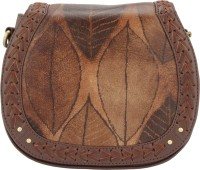 D'oro Women Brown PU Sling Bag