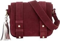 Risa Women Maroon Genuine Leather Sling Bag