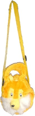Addyz Girls Yellow Velvet Sling Bag