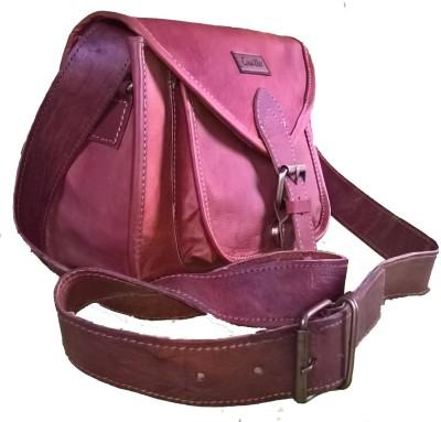 Goatter Girls, Women Brown Genuine Leather Sling Bag